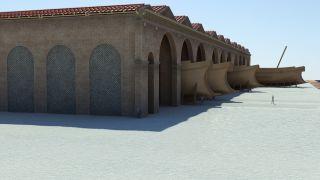 history, archeology, ancient shipyard, ancient roman shipyard, portus, shipbuilding, port, portus, roman imperial era