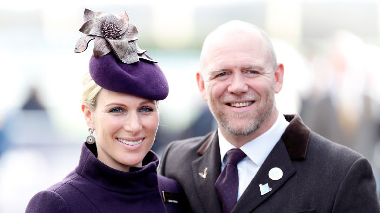 Zara Tindall and Mike Tindall attend day 4 'Gold Cup Day' of the Cheltenham Festival 2020 at Cheltenham Racecourse on March 13, 2020 in Cheltenham, England