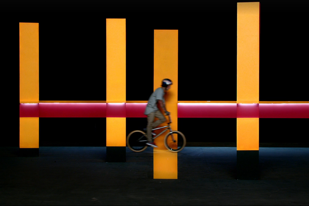 BMX star Kriss Kyle enters the kaleidoscope, a crazy illusionary set-up that needs to be watched – probably a few times – to be believed. Camera ...