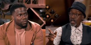 Kevin Hart and Don Cheadle in Hart to Heart talkshow