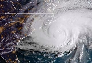 Florence made landfall this morning (Sept 14) along the South Carolina-North Carolina border.