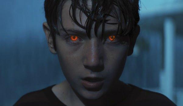 Brandon Breyer eyes glow in Brightburn