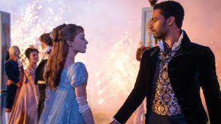 The cast of Bridgerton dancing – it's still one of the best Netflix shows around.