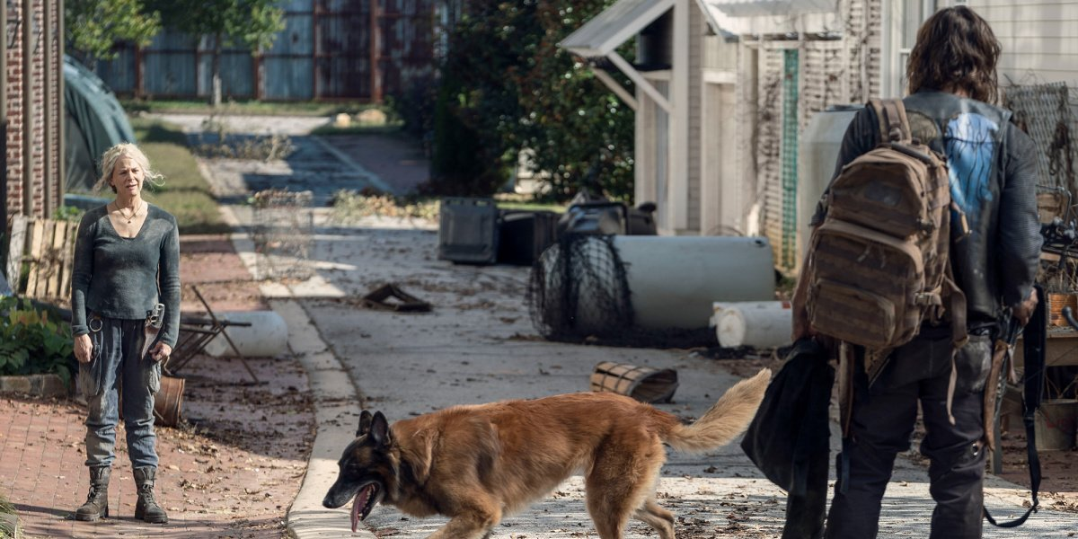 Daryl and Carol at the end of their days in The Walking Dead.