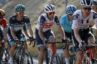 Vincenzo Nibali (Trek-Segafredo) finished with the main group of GC contenders on stage 17 of the 2020 Giro d'Italia