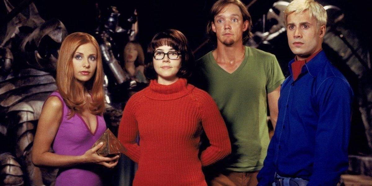 Sarah Michelle Gellar, Linda Cardellini, Matthew Lillard and Freddie Prinze Jr in Scooby-Doo
