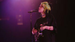 Billie Eilish performs live