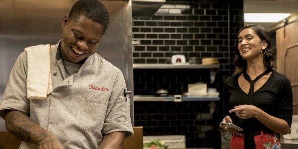 Brandon doing prep work in the kitchen
