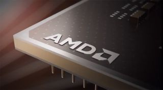 AMD logo on rendered chip