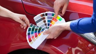 Car paint samples