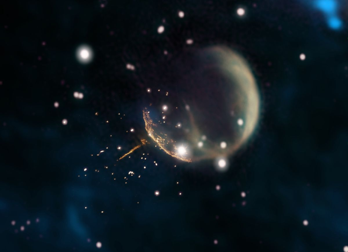 Spinning Star Hurtles Through Space at 2.5 Million Mph After Swift Kick from Supernova
