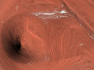 Impact Crater Exhumed from Mars Ice