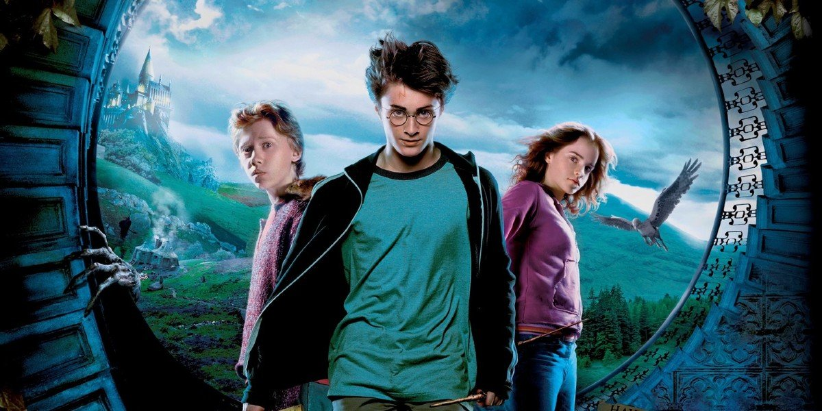 Emma Watson, Rupert Grint, and Daniel Radcliffe in Harry Potter and the Prisoner of Azkaban