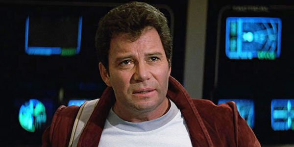 William Shatner as Captain Kirk in Star Trek V