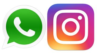 whatsapp and Instagram logos