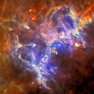 New Herschel and XMM-Newton Image of M16