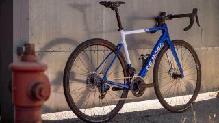 De Rosa bike leaning against a wall