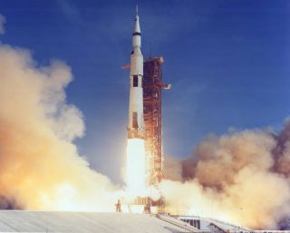 NASA's Saturn V rocket launched the Apollo 11 astronauts towards the moon on July 16, 1969.