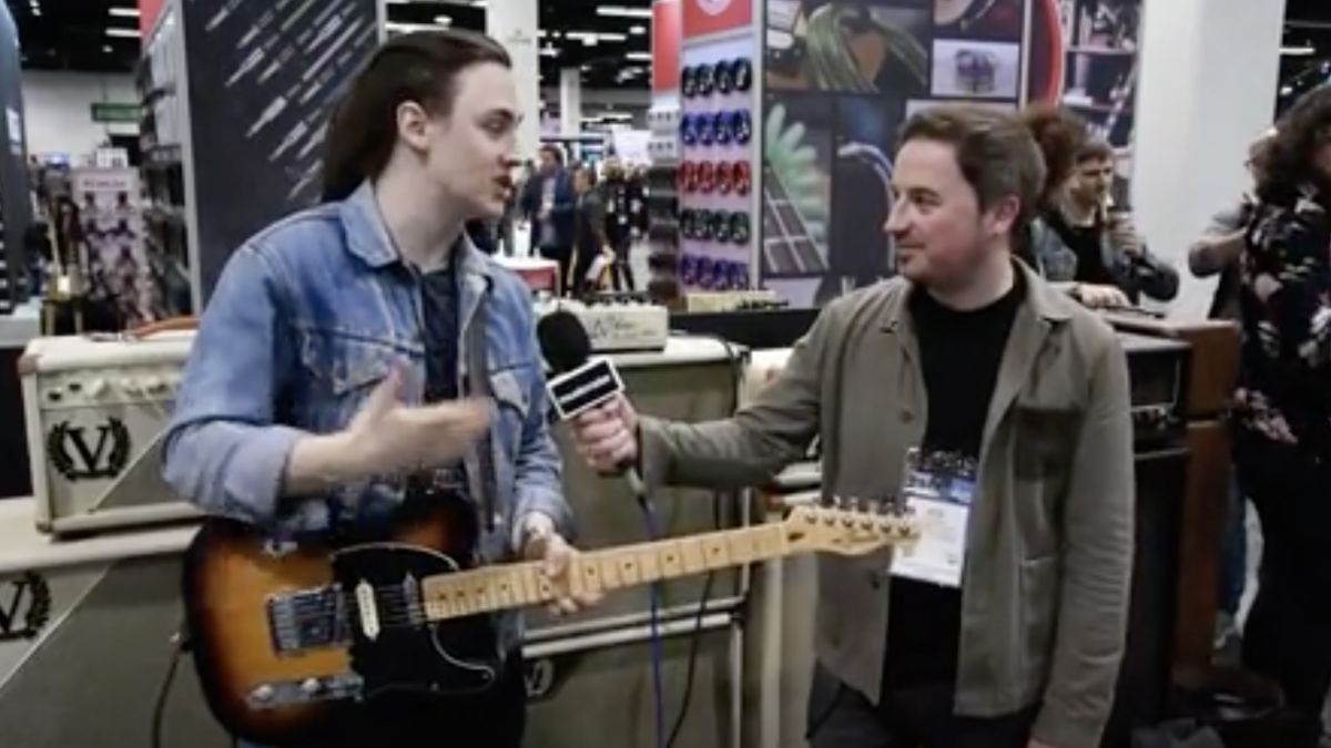 NAMM 2020 VIDEO: Chris Buck shows us Victory's V4 Duchess pedal amp