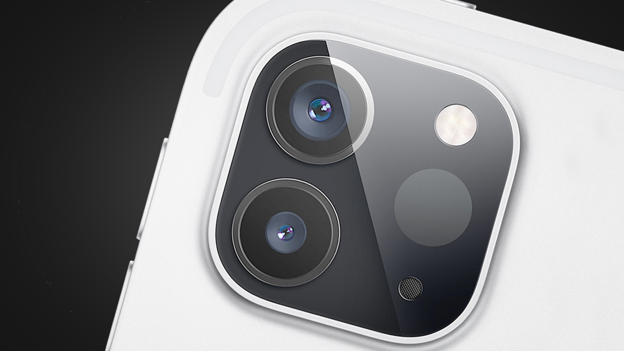 The rear cameras of the Apple iPhone 12 Pro