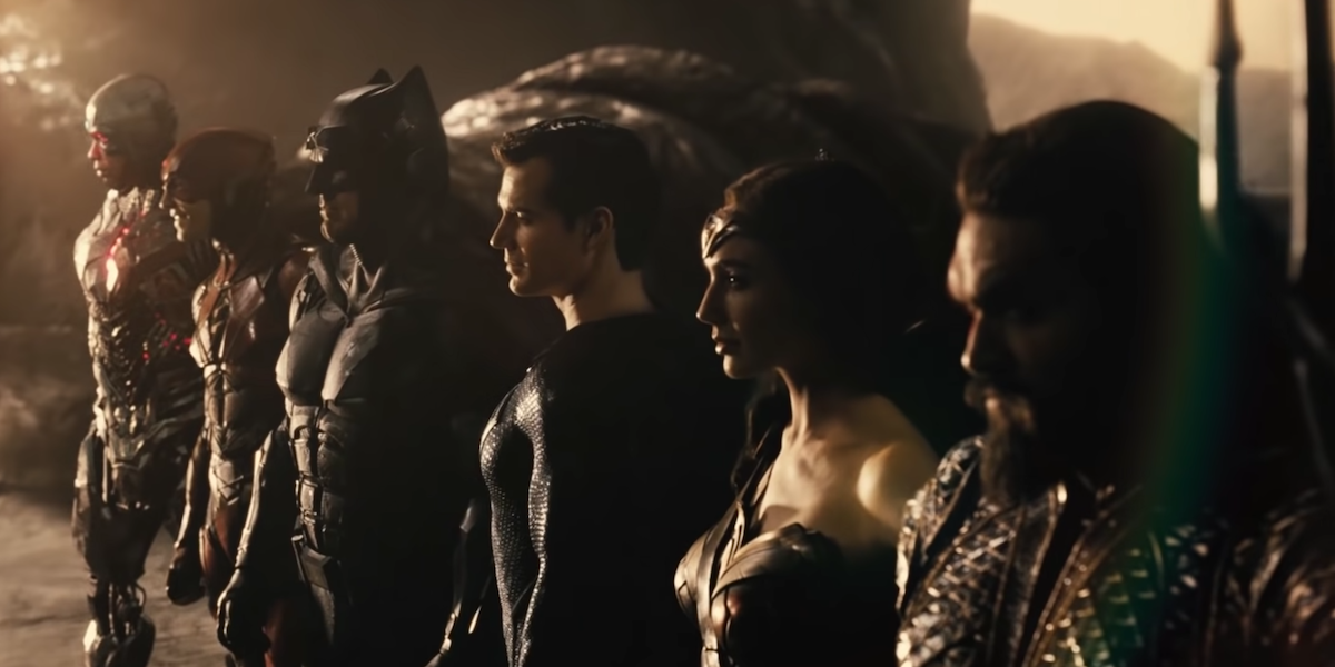 The Justice League together in the Snyder Cut trailer