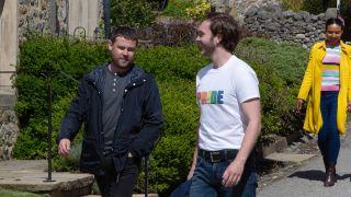 Ben Tucker and Aaron Dingle at Pride