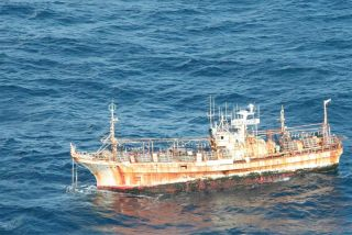 Japanese vessel called the ghost ship drifting in waters off the coast of Alaska.