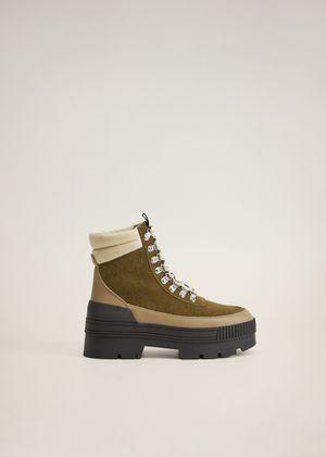 Mango lace up boots