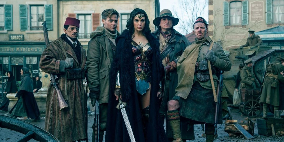 Diana Prince and the Wonder Men in Wonder Woman