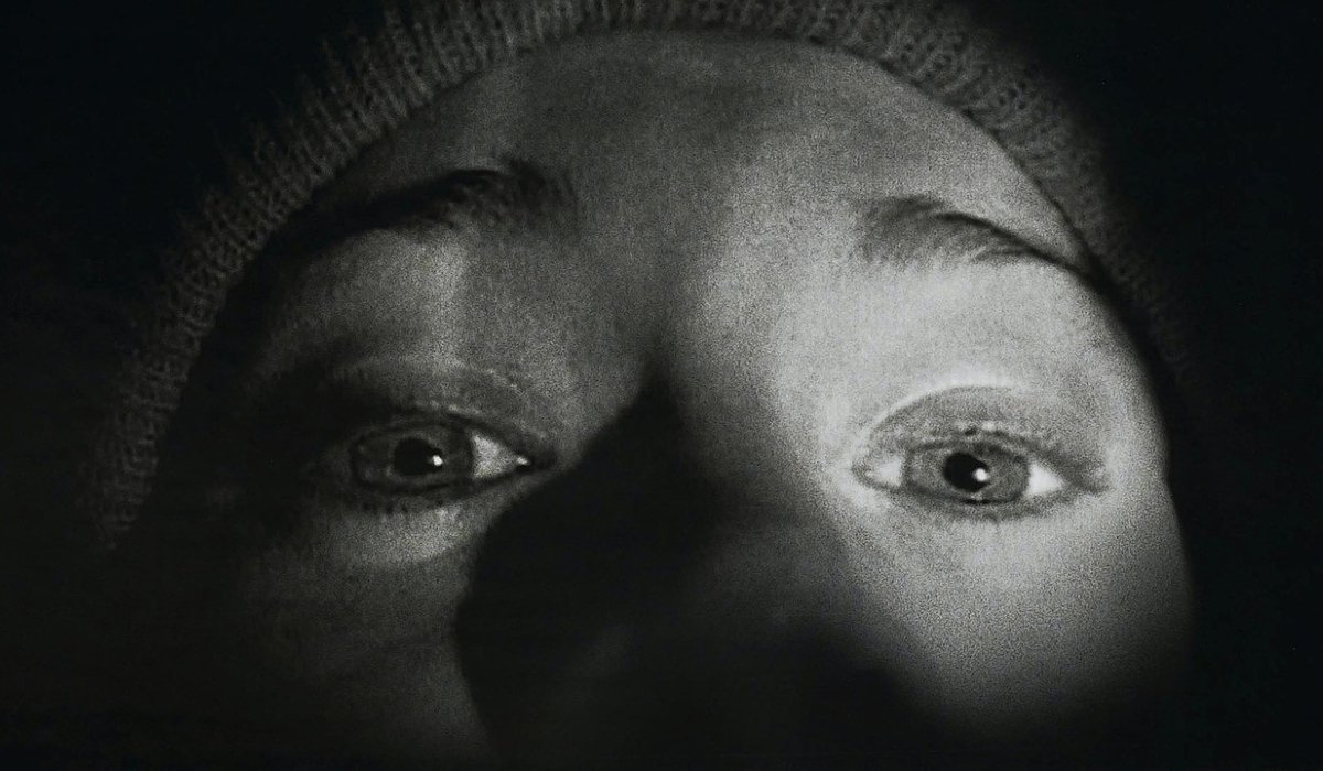 The Blair Witch Project Heather's teary eyes shining in the flashlight