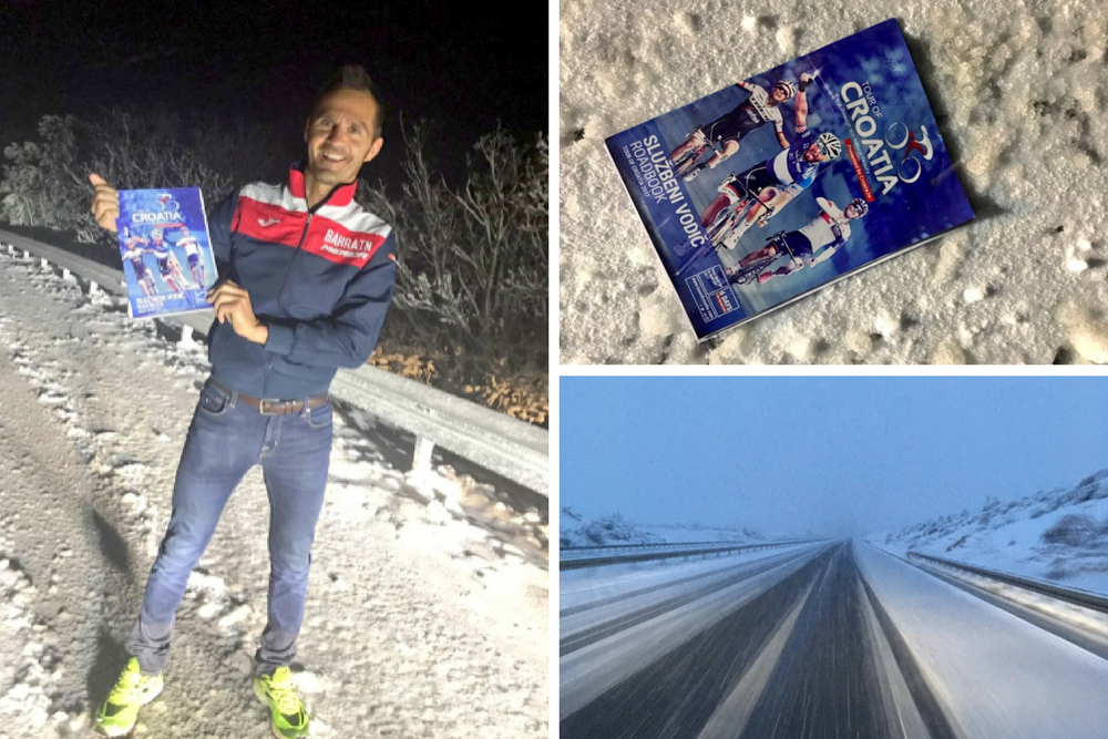 Tour of Croatia shortened due to snow, similar to the Tour of Alps.