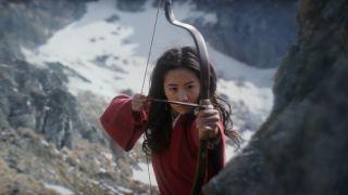 Yifei Liu in Mulan, available Sept. 4 on Disney+.