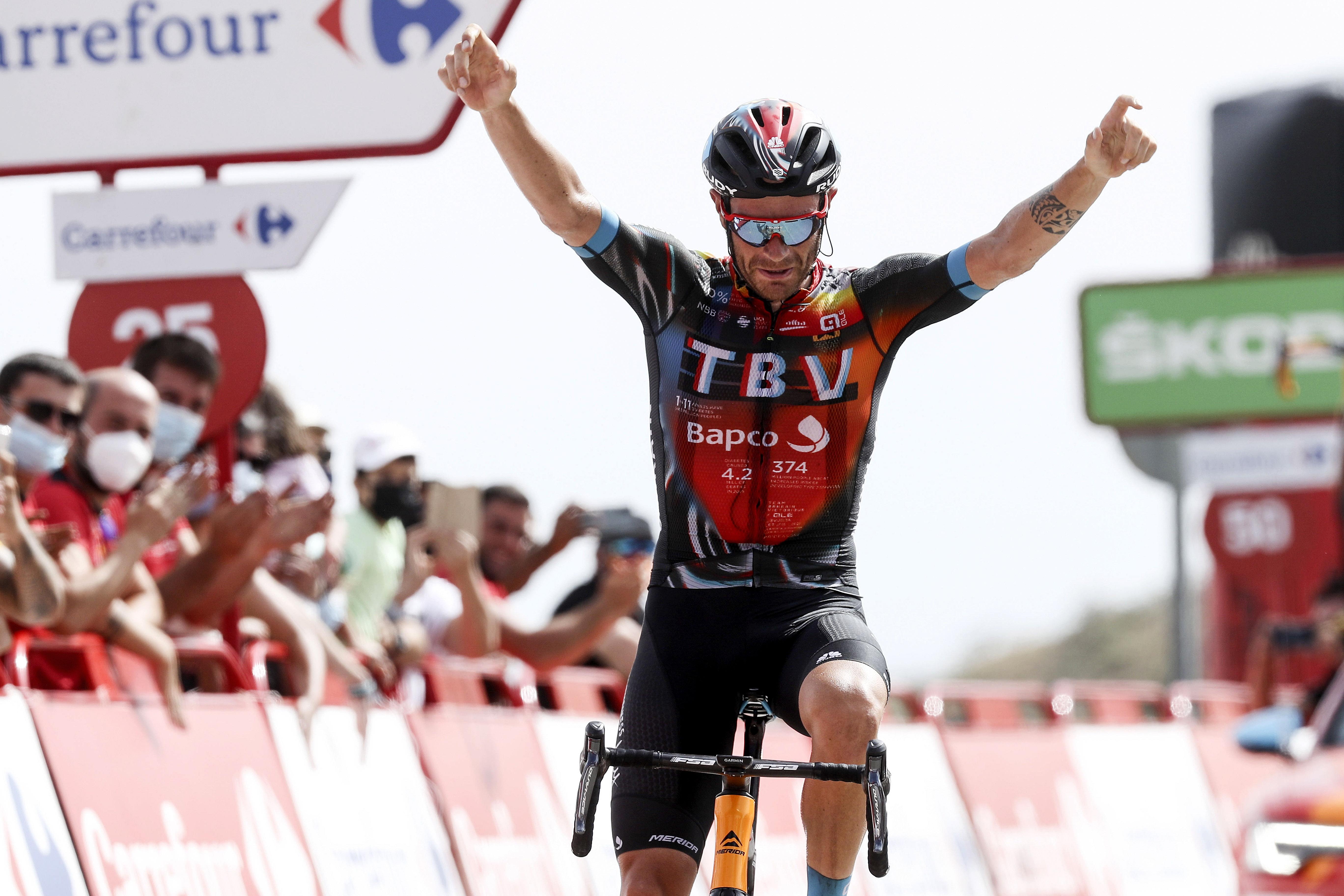 Vuelta Espana 2021 - 76th Edition - 9th stage Puerto Lumbreras - Alto de Velefique 188 km - 22/08/2021 - Damiano Caruso (ITA - Bahrain Victorious) - photo Luis Angel Gomez/BettiniPhoto©2021