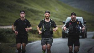 Frankie Tinsley running Ben Nevis in the Talisman Triathlon