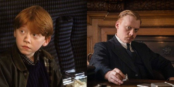 Rupert Grint as Ron Weasley in Harry Potter and then as Inspector Crome in The ABC Murders