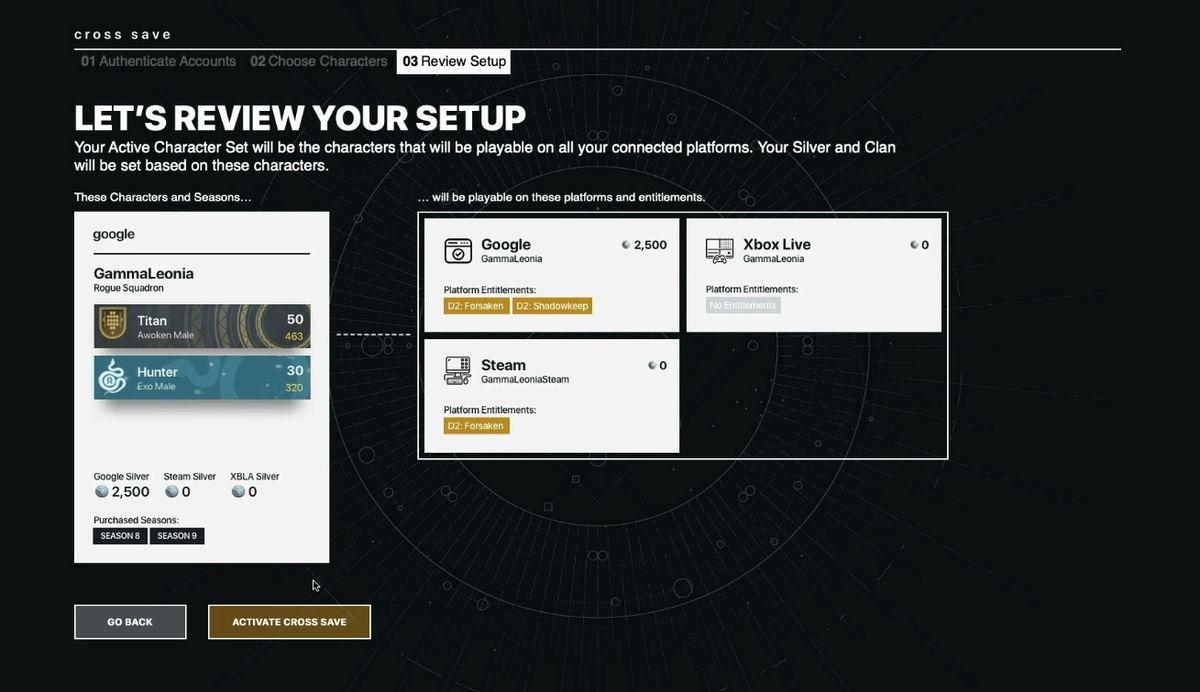 Bungie affirms Destiny 2 cross save will allow cross-platform