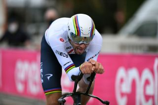 SAN BENEDETTO DEL TRONTO ITALY MARCH 16 Filippo Ganna of Italy and Team INEOS Grenadiers during the 56th TirrenoAdriatico 2021 Stage 7 a 101km Individual Time Trial stage from San Benedetto del Tronto to San Benedetto del Tronto ITT TirrenoAdriatico on March 16 2021 in San Benedetto del Tronto Italy Photo by Tim de WaeleGetty Images