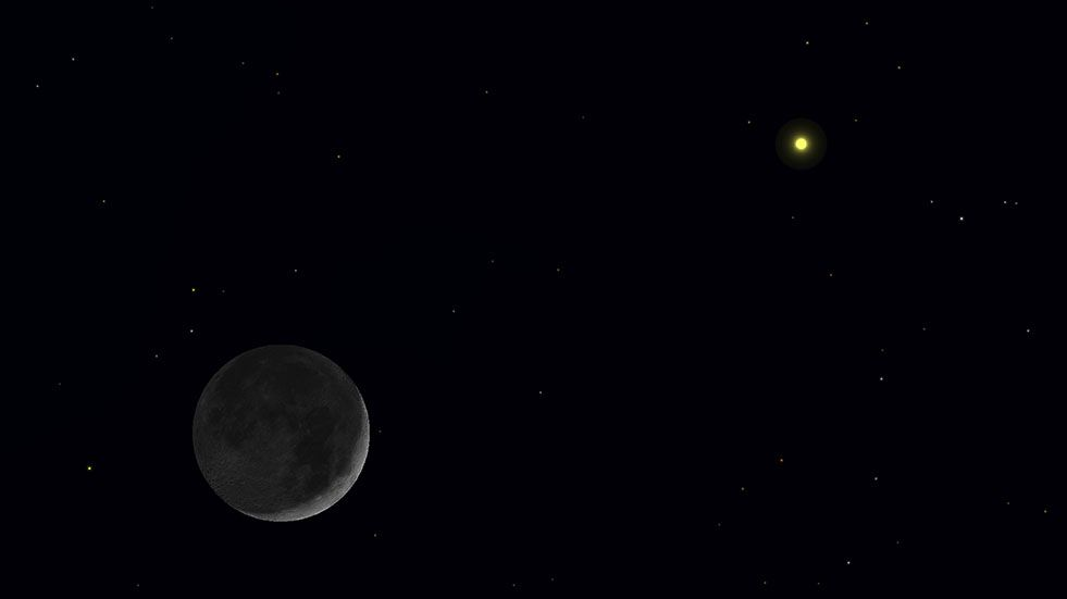 Cosmic Deal You Can See Saturn With The Moon On Black Friday It S Free Space