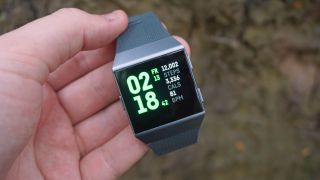The Fitbit Ionic has a bright screen, but it's not the most responsive