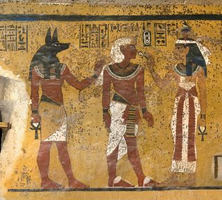 Photo of a wall in Tutankhamen's tomb, taken in February 2009.