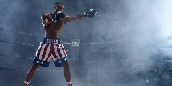 Michael B. Jordan as Adonis Creed in the ring in Creed II