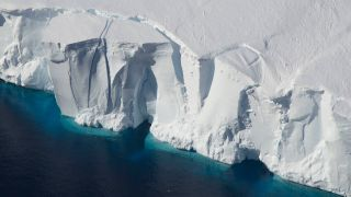 Melting from ice shelves in Greenland and Antarctica (like the Getz Ice Shelf seen here) will contribute over 15 inches to global sea level rise by 2100, scientists have found in a new study.