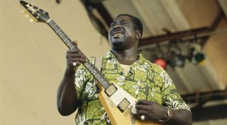 Albert King performs live at the Newport Jazz Festival in Newport, Rhode Island, on July 12, 1970.