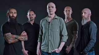 A press shot of Devin Townsend and his band
