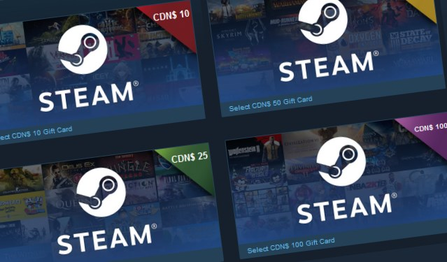 Steam Digital Gift Cards are now available | PC Gamer
