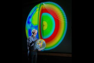 researcher Sandy Ballard and colleagues from Sandia and Los Alamos National Laboratory have developed SALSA3D, a 3-D model of the Earth's mantle and crust designed to help pinpoint the location of all types of explosions