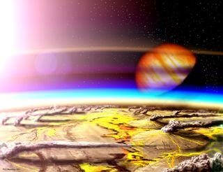 Volcanoes make habitable planet