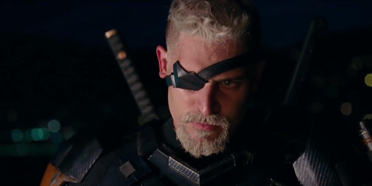 Joe Manganiello wearing eyepatch as Deathstroke