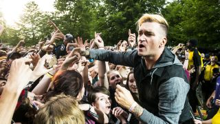 New Found Glory's Jordan Pundik at Slam Dunk 2016, Hatfield