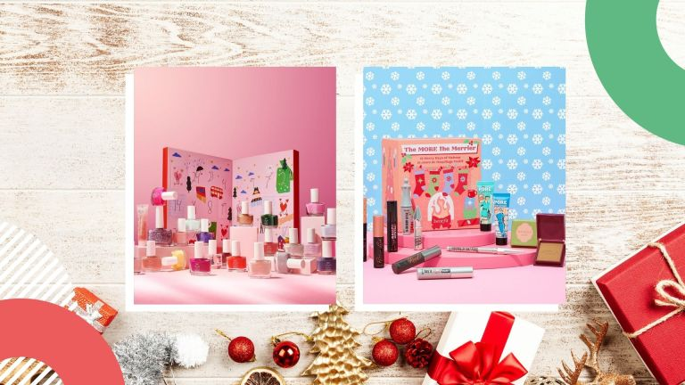 Best beauty advent calendars collage: Benefit Cosmetics, Ciate London, and more brands